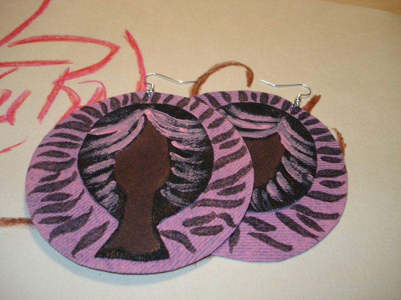 Soft-n-Pink Natural Sista Earrings