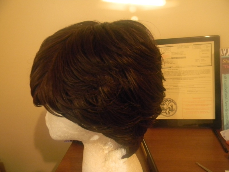 Naturally treated and layered duby wig