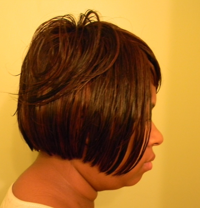 Sewn-In Cut in bob style SideView