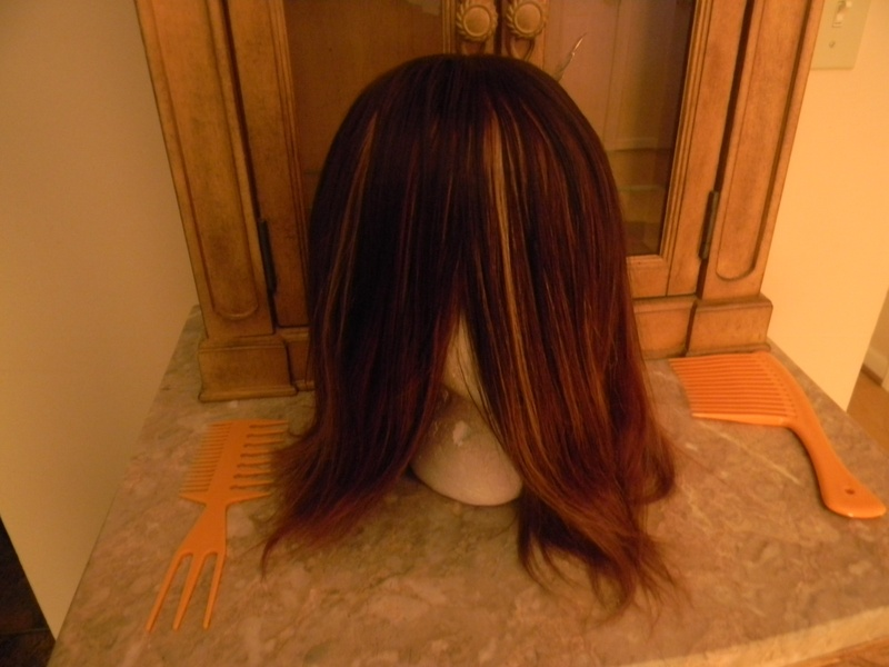 Handmade wig before cut