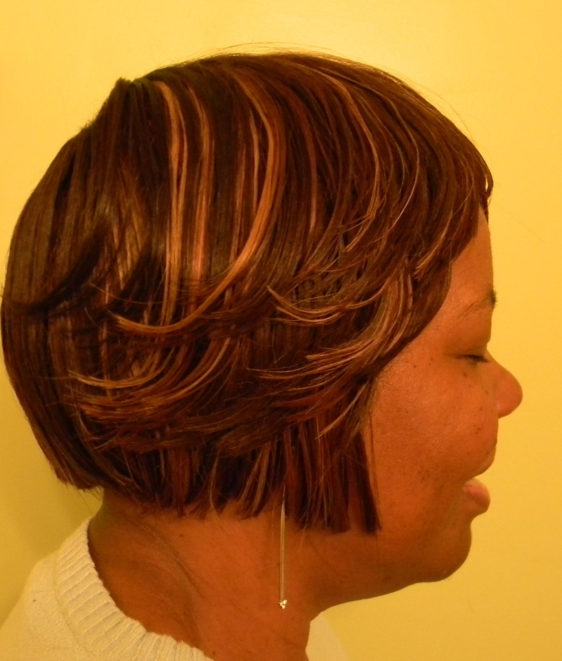 Short Bob layered front style
