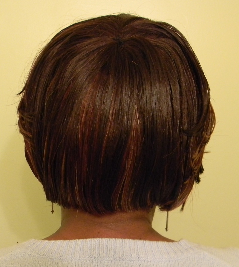 Short bob backview