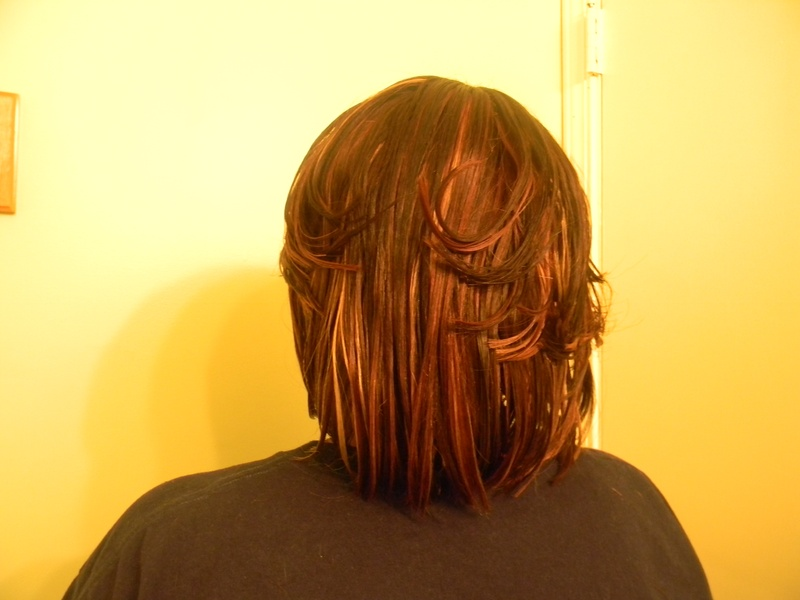 Naturally Treated wig backview